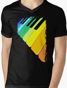 Piano Keyboard Rainbow Colors  Mens V-Neck T-Shirt