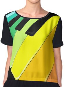 Piano Keyboard Rainbow Colors  Chiffon Top