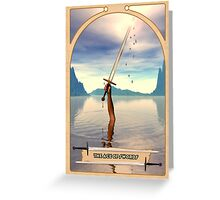 The Ace of Swords Greeting Card