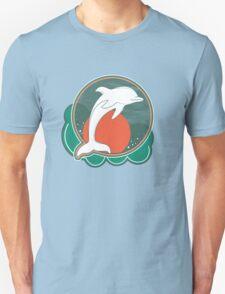 Dolphin Moonlight Red Unisex T-Shirt