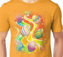 Happy Easter Eggs Ornamental Design Unisex T-Shirt