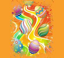 Happy Easter Eggs Ornamental Design Unisex T-Shirt