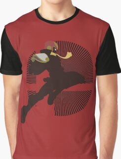 Captain Falcon (Smash 4, Knee of Justice) - Sunset Shores Graphic T-Shirt