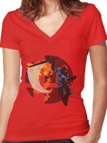 Roy (Smash 4) - Sunset Shores Women's Fitted V-Neck T-Shirt