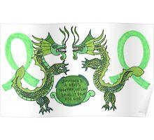 Lymphoma Dragon Cancer Survivor  Poster