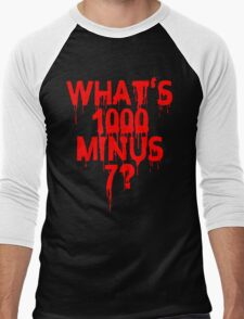 What's 1000 minus 7? Men's Baseball ¾ T-Shirt