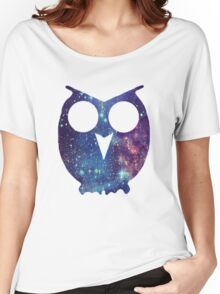 Owl Galaxy Women's Relaxed Fit T-Shirt
