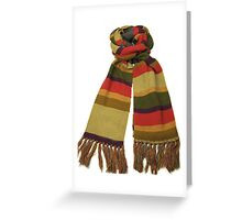 Doctor Who Scarf (Fourth Doctor) Greeting Card