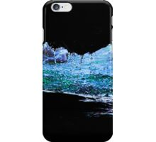 Droplets on the rock from waves iPhone Case/Skin