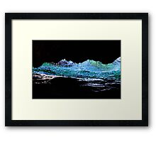 Droplets on the rock from waves Framed Print