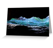 Droplets on the rock from waves Greeting Card