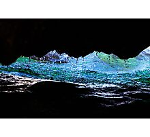 Droplets on the rock from waves Photographic Print