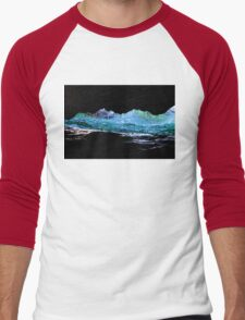 Droplets on the rock from waves Men's Baseball ¾ T-Shirt