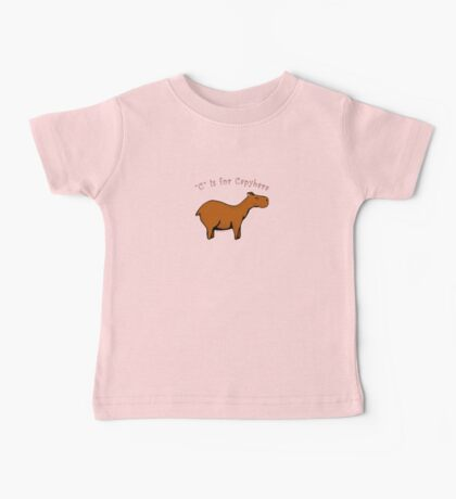 C is for Capybara Baby Tee