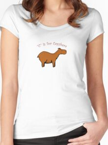 C is for Capybara Women's Fitted Scoop T-Shirt