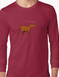 C is for Capybara Long Sleeve T-Shirt