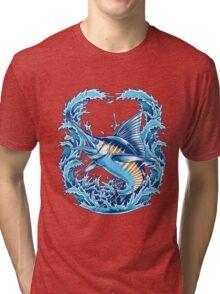 Blue Marlin Tri-blend T-Shirt