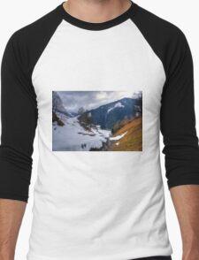 Saalbach, Austria Men's Baseball ¾ T-Shirt