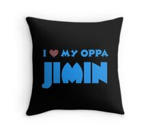 I HEART MY OPPA JIMIN  - BLACK  Throw Pillow