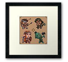 Chibi Barbarians Framed Print