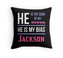 HE IS MY BIAS BLACK - Jackson Throw Pillow