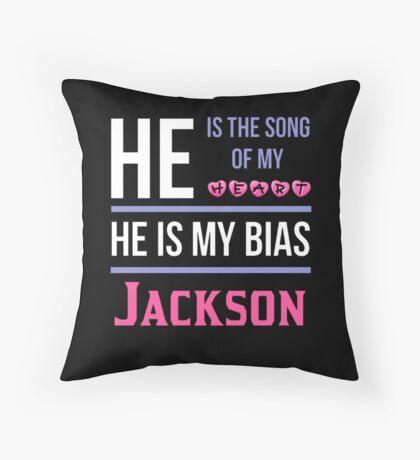 HE IS MY BIAS BLACK - Jackson Throw Pillow