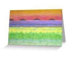 Four times Sunset  Greeting Card