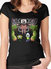 Flowey Dreemurr - Undertale Women's Fitted Scoop T-Shirt
