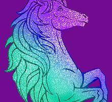 Sparkling Rainbow Unicorn by TeaTimeIsOver