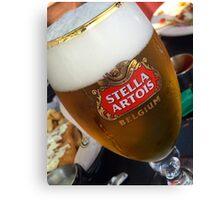 Stella Artrois Beer Glass Canvas Print