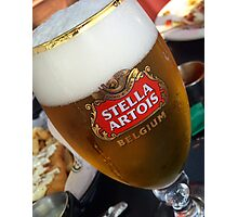 Stella Artrois Beer Glass Photographic Print