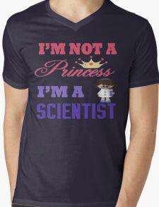 I'm not a Princess I'm a Scientist  Mens V-Neck T-Shirt