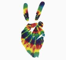 Hippie Tie Dye Peace Sign Kids Tee