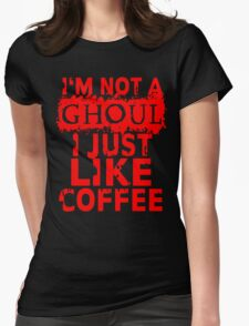 I just like coffee Womens Fitted T-Shirt