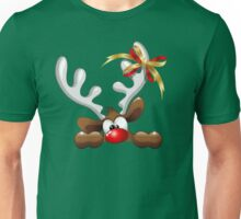 Funny Christmas Reindeer Cartoon Unisex T-Shirt