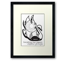 Swanfire - With Quote (Neal & Emma, Once Upon a Time) Framed Print