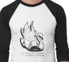 Swanfire - With Quote (Neal & Emma, Once Upon a Time) Men's Baseball ¾ T-Shirt