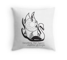 Swanfire - With Quote (Neal & Emma, Once Upon a Time) Throw Pillow