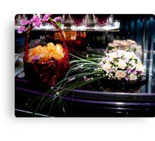 The bride's bouquet. fruit basket Canvas Print