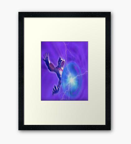Donkey kong melee powerball Framed Print