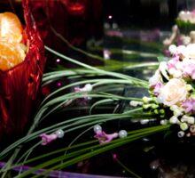 The bride's bouquet. fruit basket Sticker