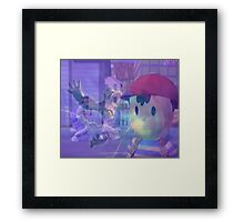 Ness, DK and ice climbers melee Framed Print
