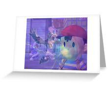 Ness, DK and ice climbers melee Greeting Card