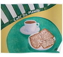 Coffee and Beignets Poster