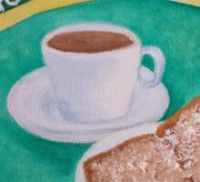 Coffee and Beignets Sticker