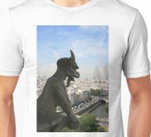 Gargoyle overlooking Paris Unisex T-Shirt
