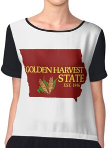 Golden Harvest State Chiffon Top