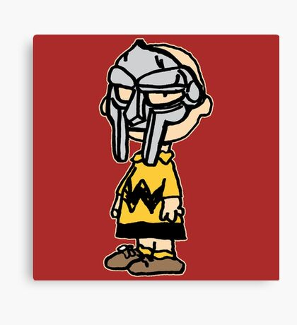 Charlie Brown Mask Canvas Print