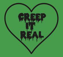 Creep It Real Heart One Piece - Short Sleeve