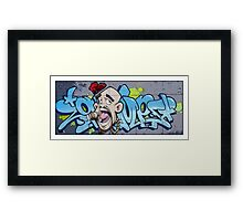 Urban walls, Bristol Framed Print